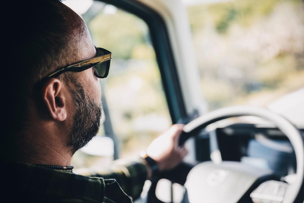 Volvo trucks services servicing planning man black shirt