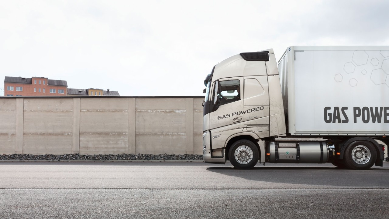 The gas-powered Volvo FH LNG is optimised for long haul.